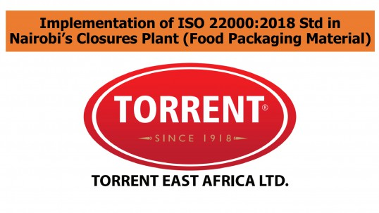 Torrent- Implementation of ISO 22000-1